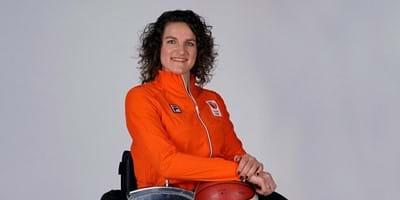 Jitske Visser in atletencommissie Internationaal Paralympisch Comité