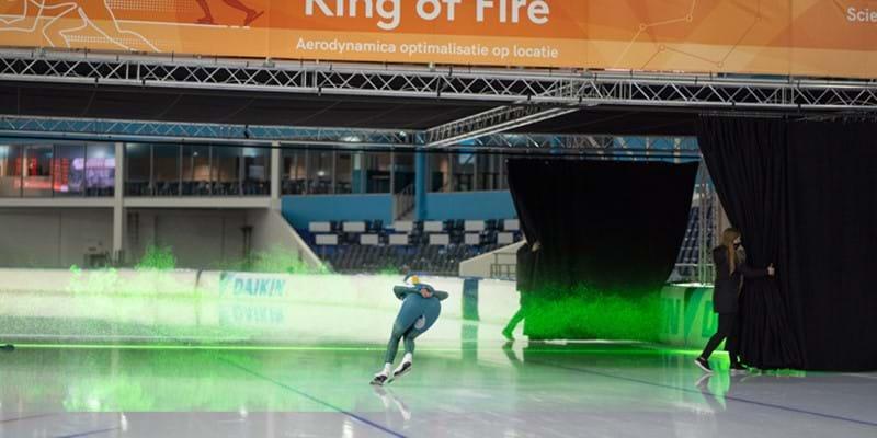 Ring of Fire: baanbrekende installatie helpt topschaatsers in jacht op goud