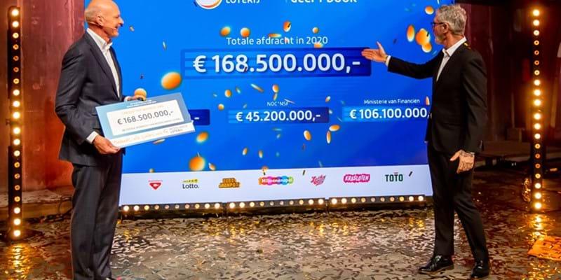 Nederlandse Loterij keert in 2020 ruim 45 miljoen euro aan de sport uit