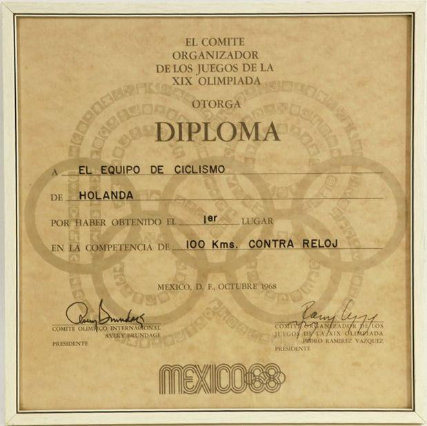 Olympisch diploma ploegentijdrit, Mexico 1968