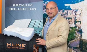 Topsporters testen nieuwe matrassen van partner M line